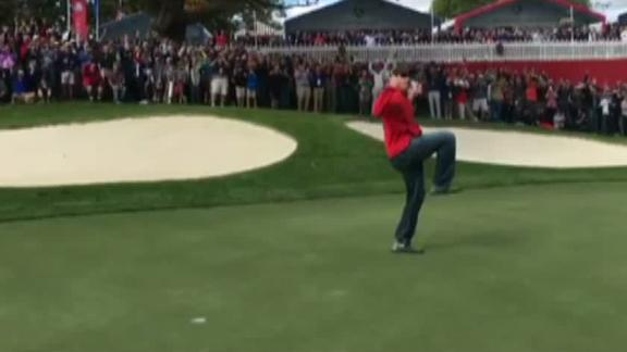 Ryder Cup fan wins $100 after Europeans issue putting challenge