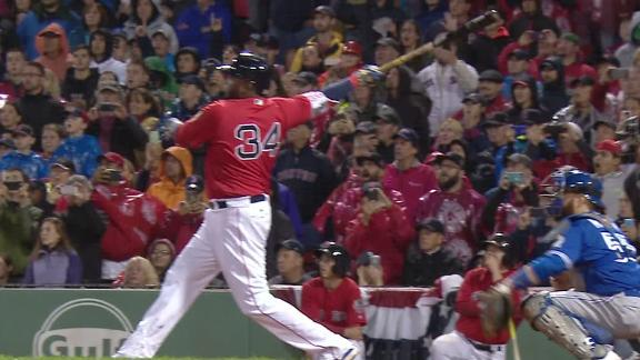 Ortiz sends homer down right field line