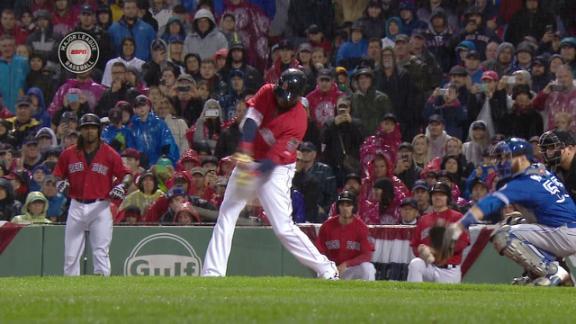 Ortiz opens up final season series with RBI single