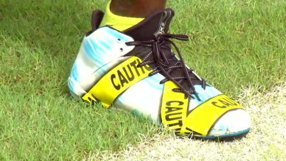 DeSean Jackson protests with custom cleats
