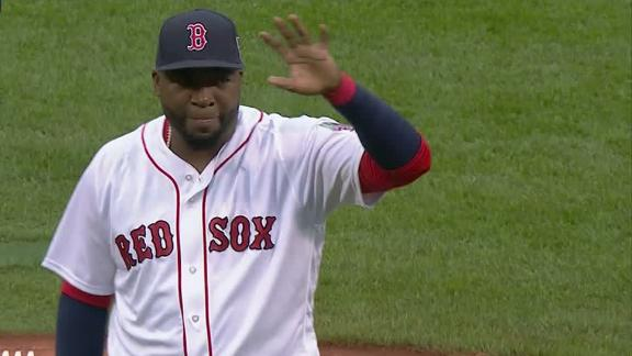 Ortiz honored in final regular season game