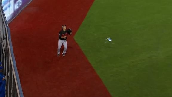 Fan throws can at Orioles outfielder