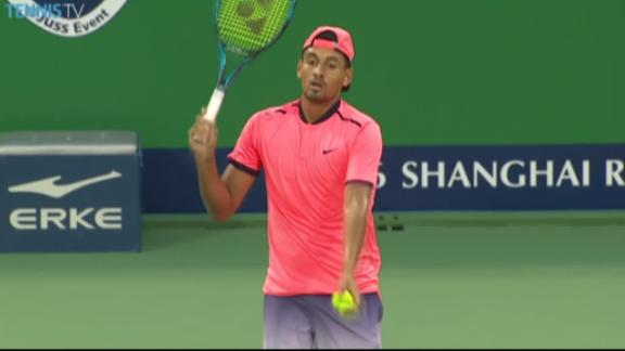Defiant Kyrgios throws match