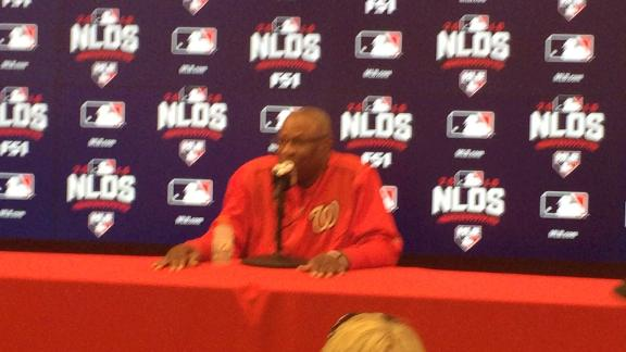Dusty Baker says Strasburg won't be available for NLCS