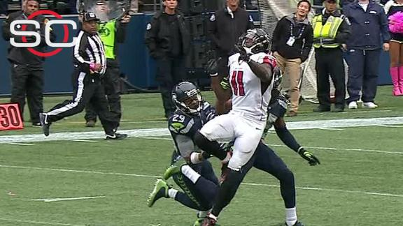 No call on fourth down heave to Julio Jones ok with Edwards and Clark
