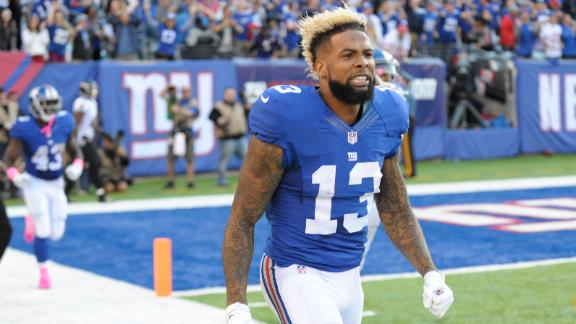 Beckham flagged for removing helmet on game-winning TD