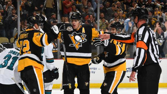 Penguins rally to top Sharks in Stanley Cup rematch