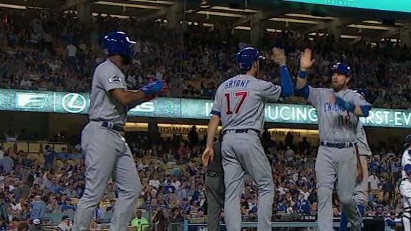 Led by their rising stars, Cubs surge ahead in NLCS