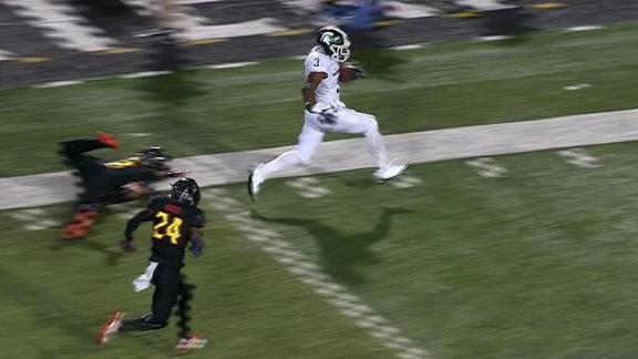 LJ Scott blows past Maryland defenders for 48-yard TD