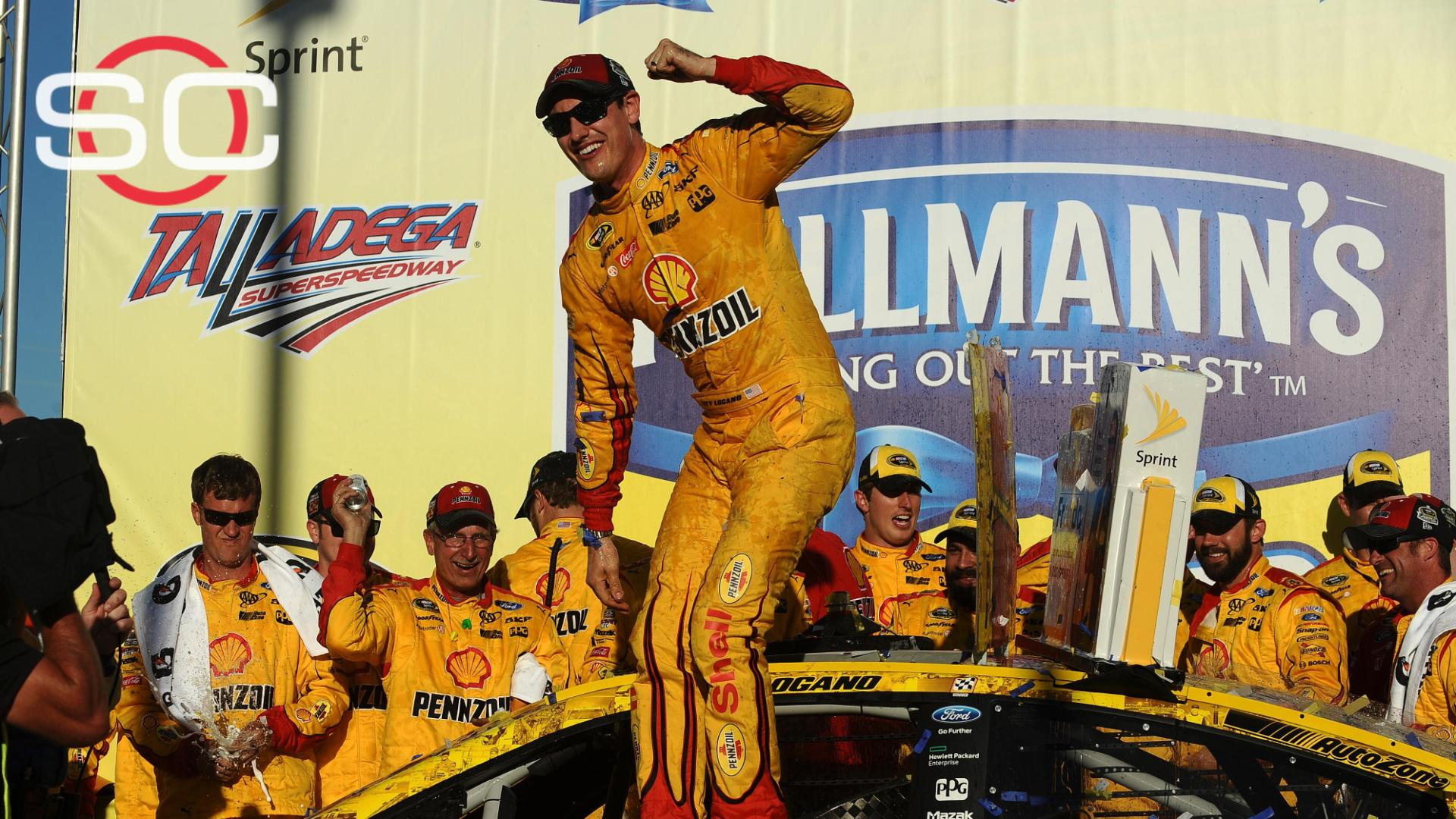 Logano holds off the field to tame Talladega