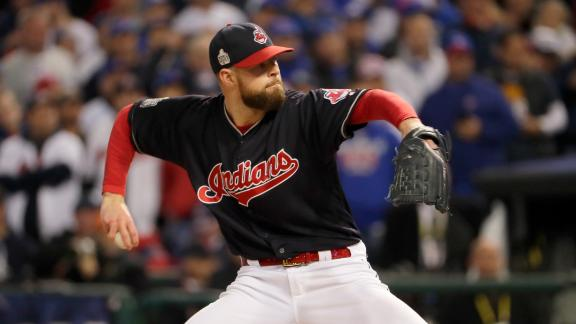 Corey Kluber sets World Series record with 8 K's in first 3 innings