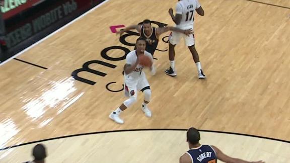Lillard sinks big three to put game away