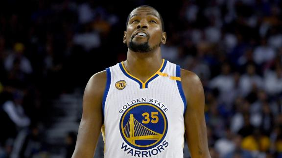 Kevin Durant on Warriors debut: Loss to Spurs 'woke us up a bit'