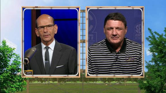 Orgeron preparing LSU for exciting battle against Bama
