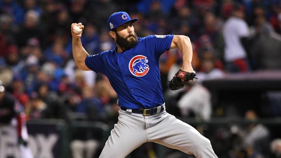 Cubs flip script: Vintage Arrieta, Schwarber even World Series