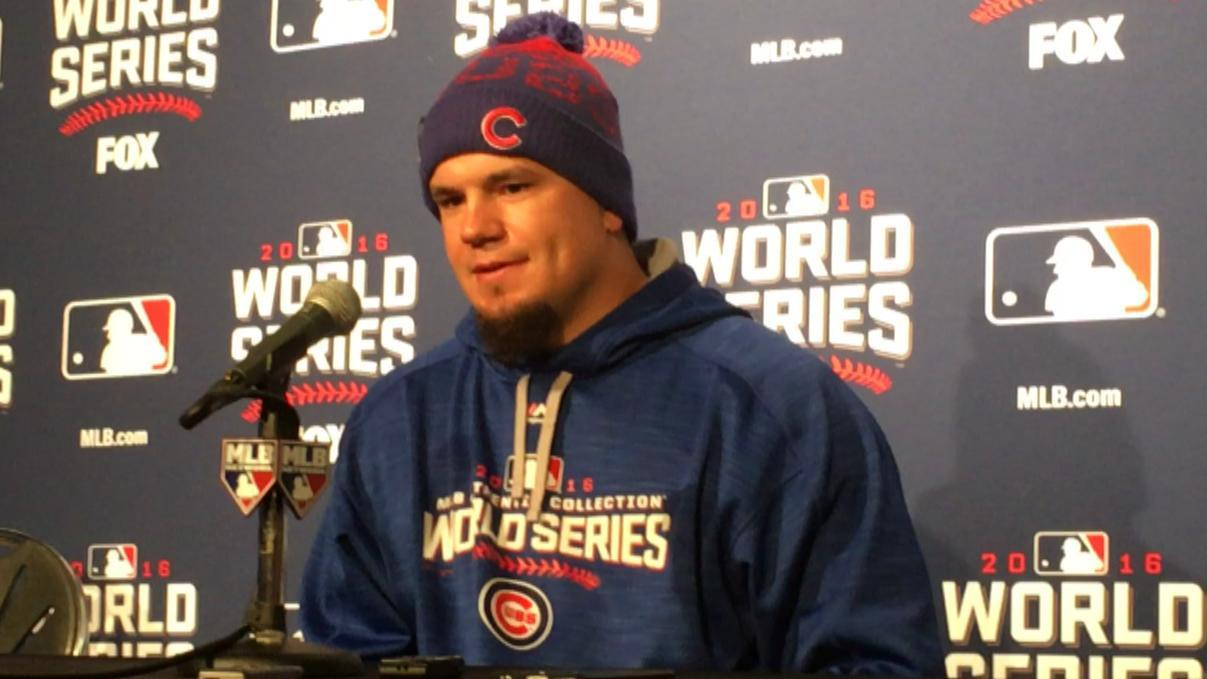 Schwarber not disappointed that he can't play outfield