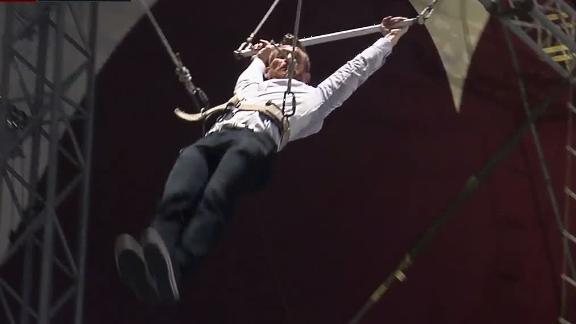Trapeze artist Marty Smith talks Clemson-FSU