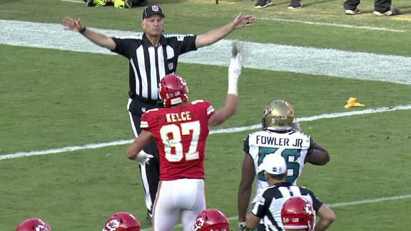 Kelce ejected for throwing towel at official
