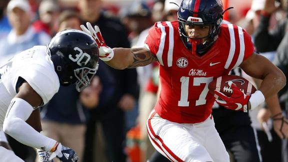 Kelly leads Ole Miss to 37-27 win over Georgia Southern