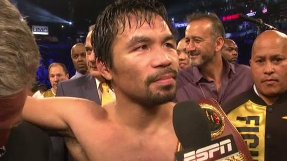 Pacquiao says he invited Mayweather to Vargas fight