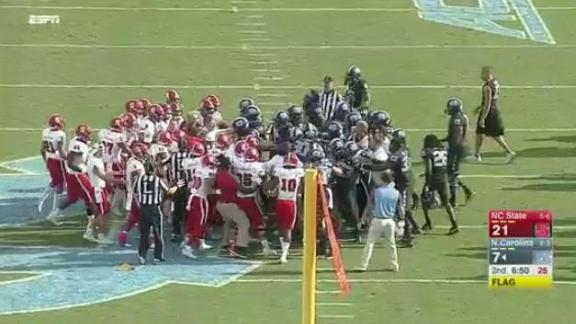 Benches clear between NC State and UNC