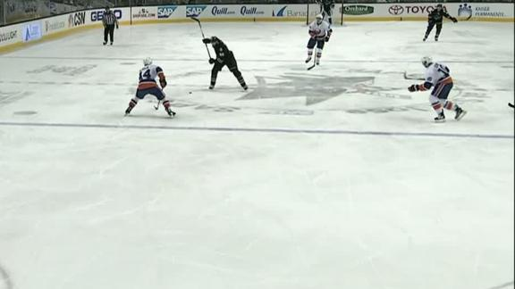 Burns scores from a long way out