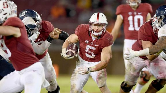 McCaffrey carries Stanford to 41-17 win
