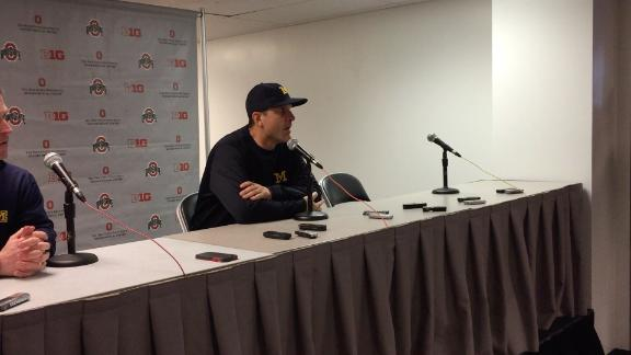 Harbaugh adamant Buckeyes were short of first down