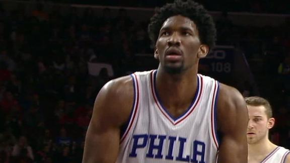 Sixers fans chant 'trust the process' during Embiid free throws