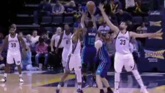 Kemba drains the 3-pointer from way outside