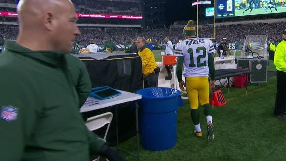 Rodgers retreats to tent after injury
