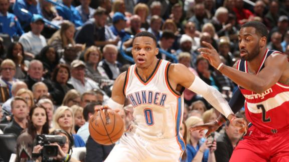 Westbrook's fourth straight triple-double lifts Thunder in OT