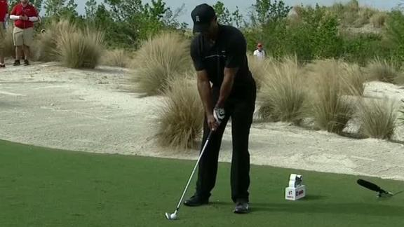 Tiger hits gorgeous tee shot