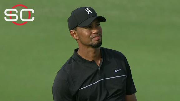 Tiger's hot start tempered by rough finish