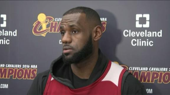 LeBron not thinking about Finals rematch