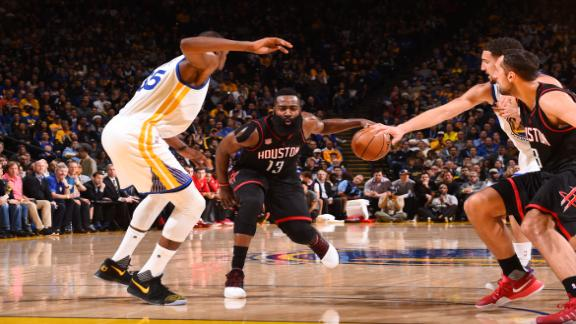 Harden, Rockets stop Warriors in epic 2OT thriller