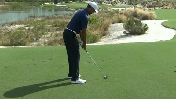 Tiger just misses hole-in-one