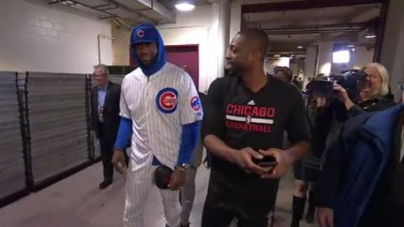 LeBron shows up in Cubs uniform to pay off bet