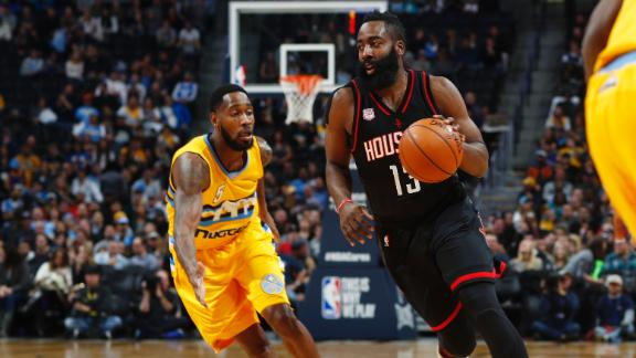 Rockets run away from Nuggets