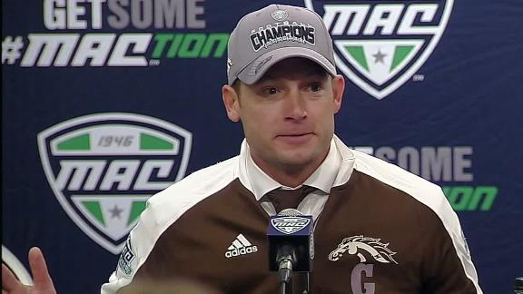 P.J. Fleck: 13-0 Western Michigan 'best Group of 5 team in country'