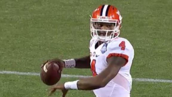 Watson starring for Clemson with three first half TDs