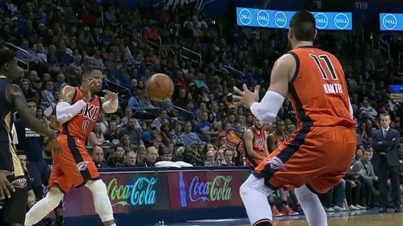 Westbrook notches fifth straight triple-double