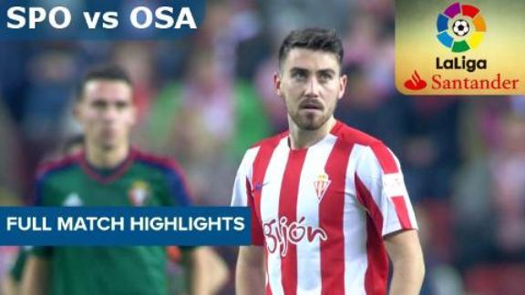 Sporting Gijon vs Osasuna-Full Match Highlights-LaLiga Santander 2016-17-4th December 2016