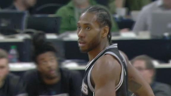 Leonard, Spurs improve to 13-0 on the road
