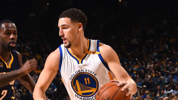 Thompson scores 60 in Warriors' win over Pacers