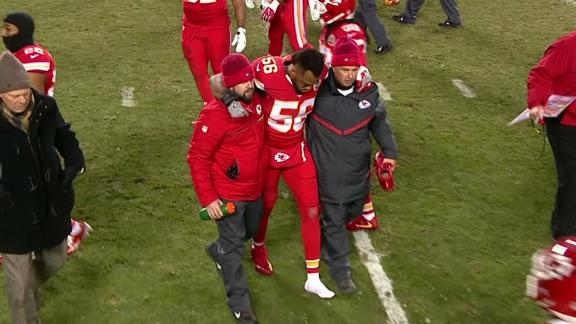 Derrick Johnson leaves game with ruptured Achilles tendon