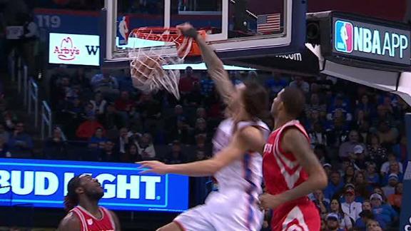 Westbrook leads Adams for alley-oop