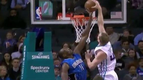 Zeller puts Biyombo on a poster with vicious dunk
