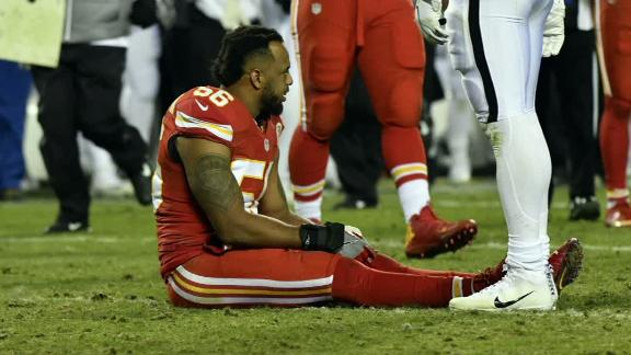 Chiefs LB Derrick Johnson suffers ruptured left Achilles vs. Raiders