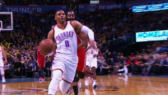 Westbrook's seventh straight triple-double wasted in loss